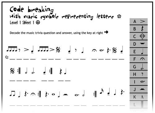 Worksheets Music Fun Worksheets module two resources for music education in