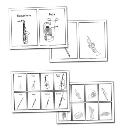 flashcards ss Lesson Plans about the Instruments of the Orchestra