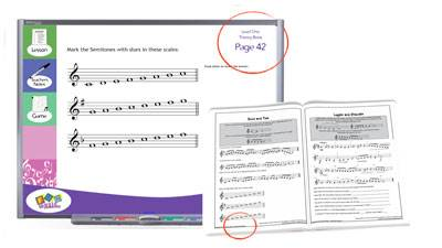 Interactive Music Theory whiteboard and book combined program