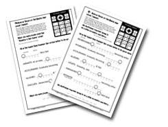 Level One Worksheets