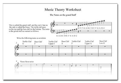 oldtheory Elementary Music Worksheets