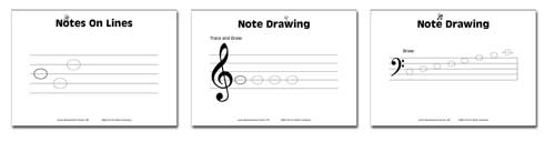 samplest1 Junior Music Worksheets