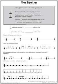Worksheets Time Signature Worksheet helping students read music resources for education worksheet 6 time signatures